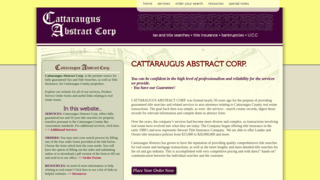 Cattaraugus Abstract Corp