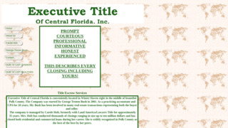 Executive Title Of Central Fl Inc
