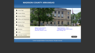 Madison County Government, Arkansas